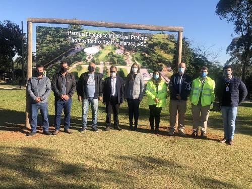 Prefeito de Maracajá apresenta Parque Ecológico a equipe Ambiental da CCR ViaCosteira