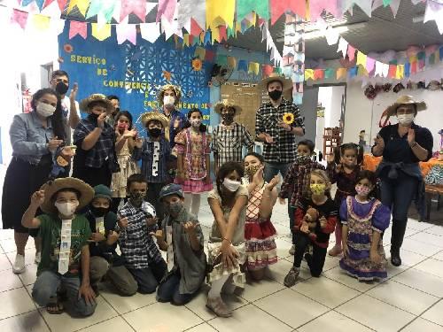 SCFV de Maracajá promove Festa Junina com crianças e adolescentes